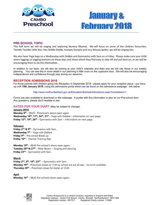 thumbnail of Newsletter Jan & Feb 2018