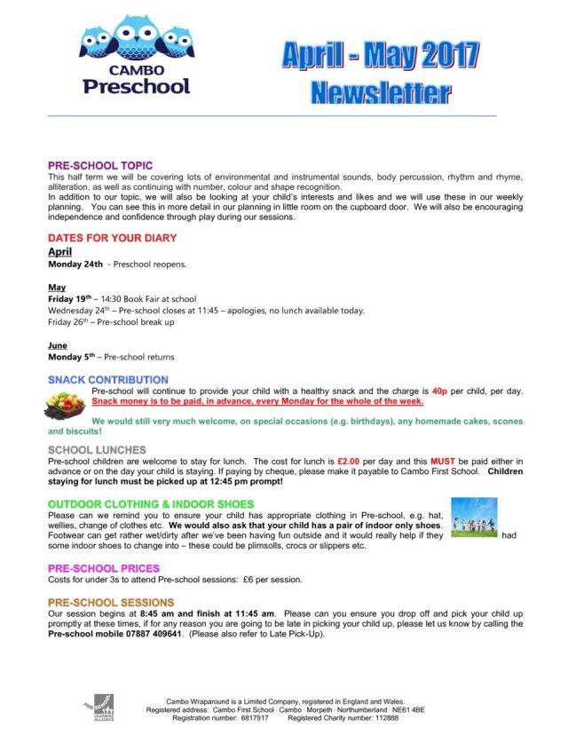 thumbnail of Pre-school Newsletter April May 2017