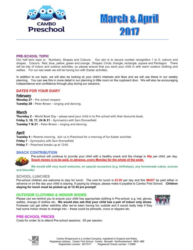 thumbnail of Pre-school Newsletter March & April 2017