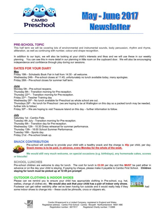 thumbnail of Pre-school Newsletter May – June 2017
