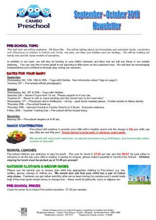 thumbnail of Pre-school Newsletter Sept & Oct 2018
