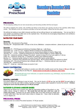 thumbnail of Pre-school Newsletter November & December 2018